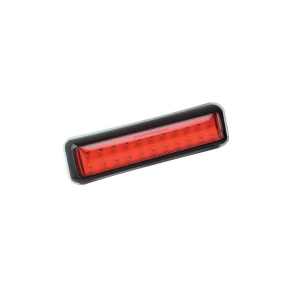 200BFME LED-Nebelschlussleuchte, Montagerahmen schwarz