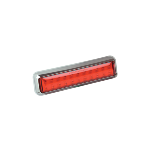 200CFME LED-Nebelschlussleuchte, Montagerahmen chrom
