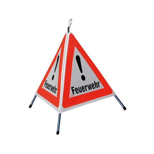 """FALTSIGNAL, Höhe 60cm, normale Ausführung, 3x Symbol für """"Andere Gefahren 1.30"""", 3x """"Feuerwehr"""""""