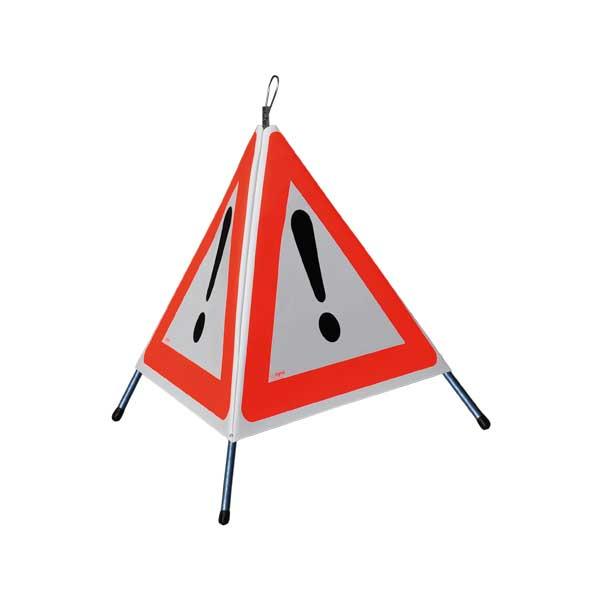 """FALTSIGNAL, Höhe 60cm, normale Ausführung, 3x Symbol für """"Andere Gefahren 1.30"""""""
