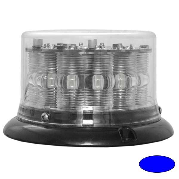 IMPACT LP, 10-30VDC, Warnfarbe blau, klare Haube, 3-Lochbefestigung