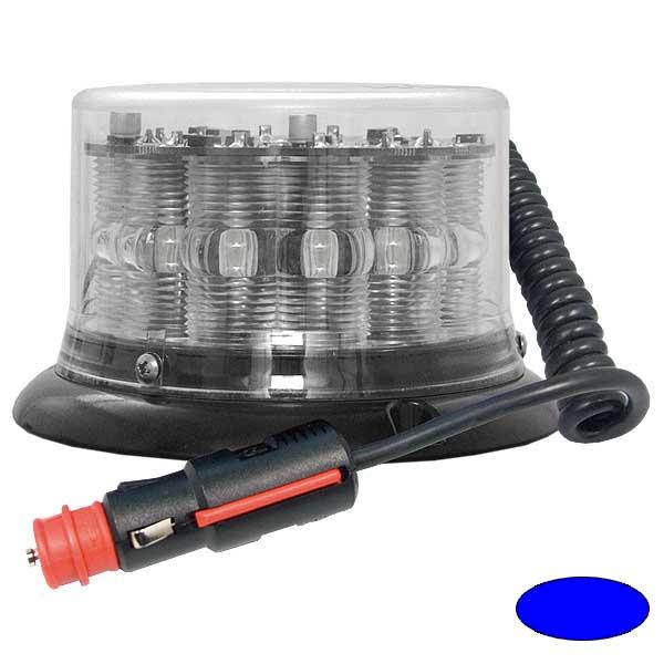 IMPACT LP, 10-30VDC, Warnfarbe blau, klare Haube, Magnethalterung