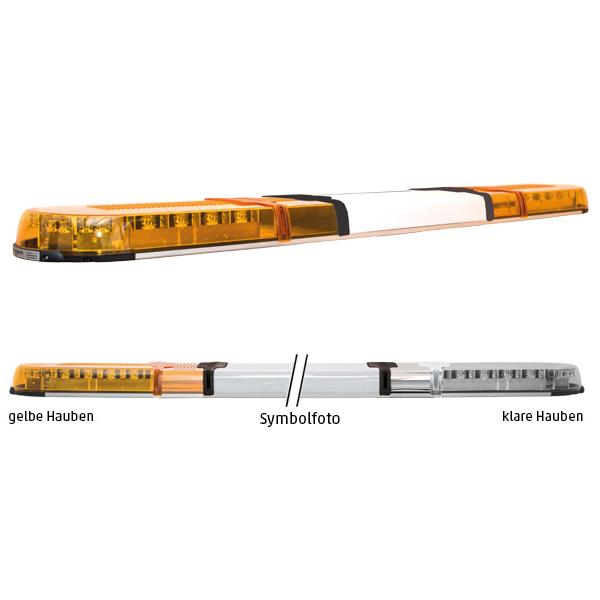 XPERT 4PRO, L=141cm, 10-30VDC, Warnfarbe gelb, Haubenfarbe klar, Schild 48cm (12 o.24VDC)