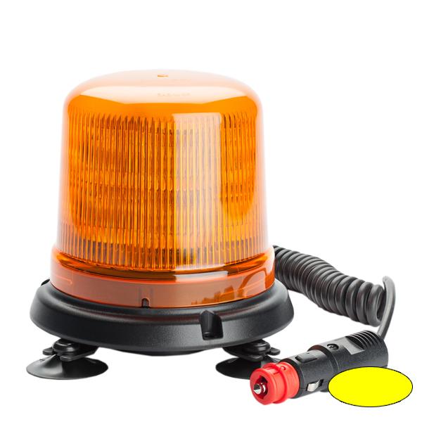 SERIE 515 LED-Kennleuchte, 10-30VDC, Warn-u.Haubenfarbe gelb, Magnethalterung