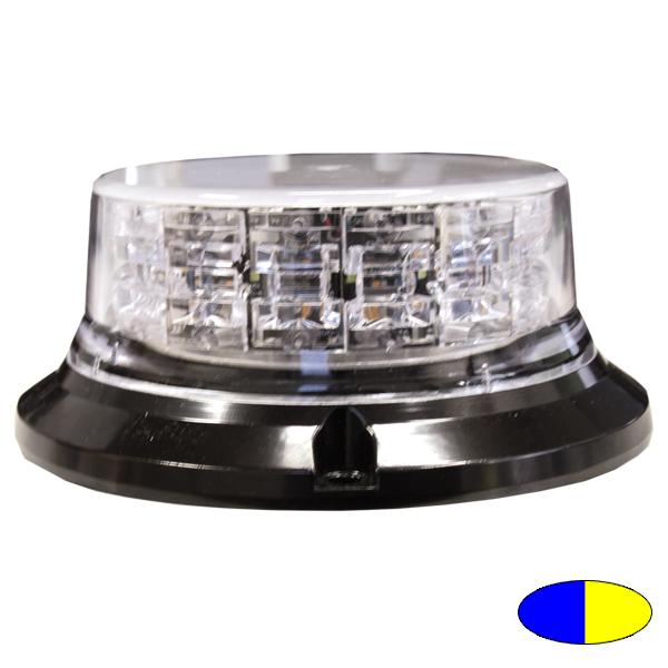 SERIE 149 LED-Kennleuchte, 10-30VDC, Warnfarben Blau/Gelb, 3-Lochbefestigung