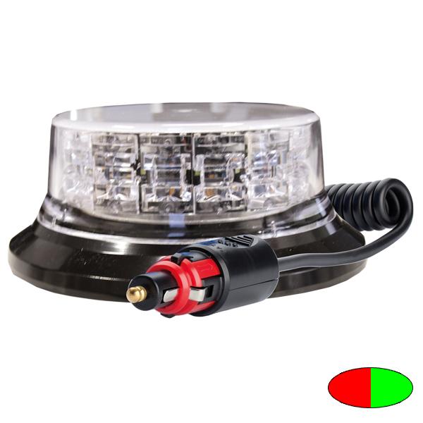 SERIE 149 LED-Kennleuchte, 10-30VDC, Warnfarben Rot/Grün, Magnethalterung