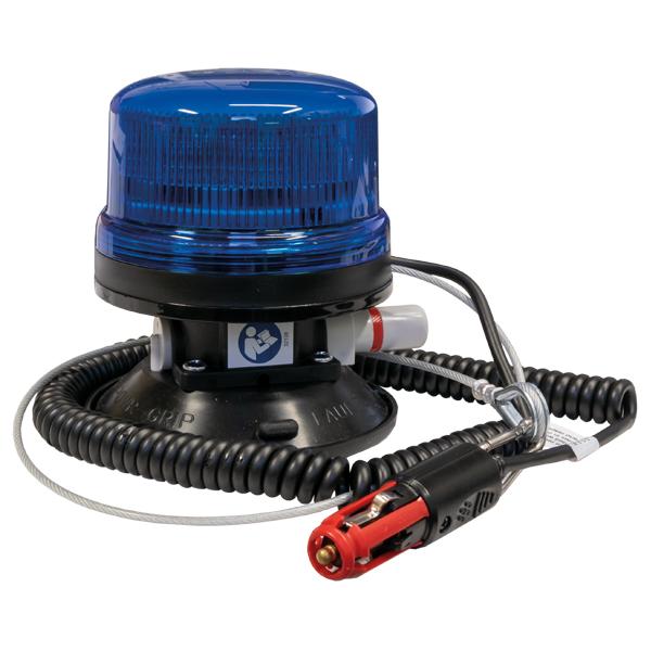 LED-Kennleuchte WB510, 10-30VDC, Warn-u.Haubenfarbe blau, Vakuum-Montage
