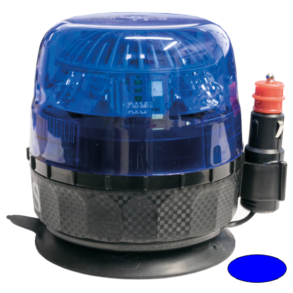EUROSTAR Modell 21.49, 10-30VDC, Warn-u.Haubenfarbe Blau, Magnethalterung