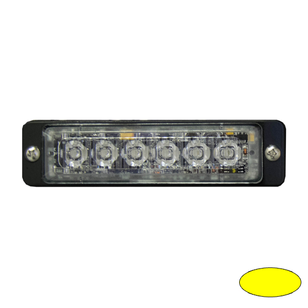 LED-Blitzleuchte ULTRA SLIM-EA, 10-30VDC, Warnfarbe gelb