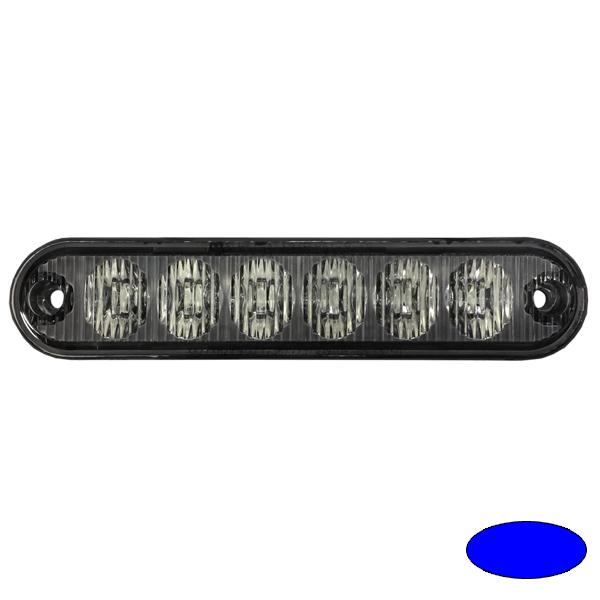 LED-Blitzleuchte EXTRA SLIM-EB, 10-30VDC, Warnfarbe blau