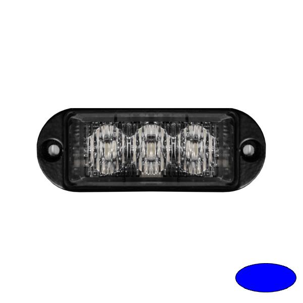 LED-Blitzleuchte ULTRA SLIM MINI-EB, 10-30VDC, Warnfarbe blau