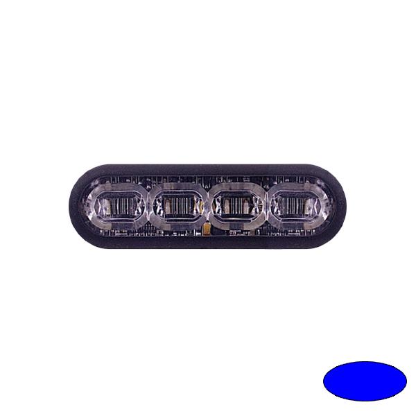 LED-Blitzleuchte mPOWER3, 10-30VDC, Warnfarbe Blau, Gewindebolzen-Montage