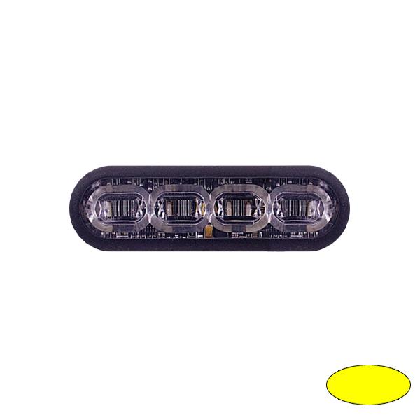 LED-Blitzleuchte mPOWER3, 10-30VDC, Warnfarbe Gelb, Klebe-Montage