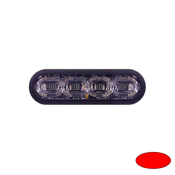 LED-Blitzleuchte mPOWER3, 10-30VDC, Sonderfarbe Rot, Gewindebolzen-Montage