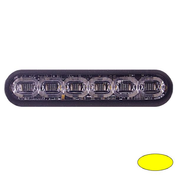 LED-Blitzleuchte mPOWER4, 10-30VDC, Warnfarbe Gelb, Klebe-Montage