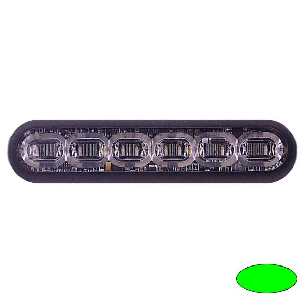 LED-Blitzleuchte mPOWER4, 10-30VDC, Sonderfarbe Grün, Gewindebolzen-Montage