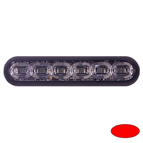 LED-Blitzleuchte mPOWER4, 10-30VDC, Sonderfarbe Rot, Gewindebolzen-Montage