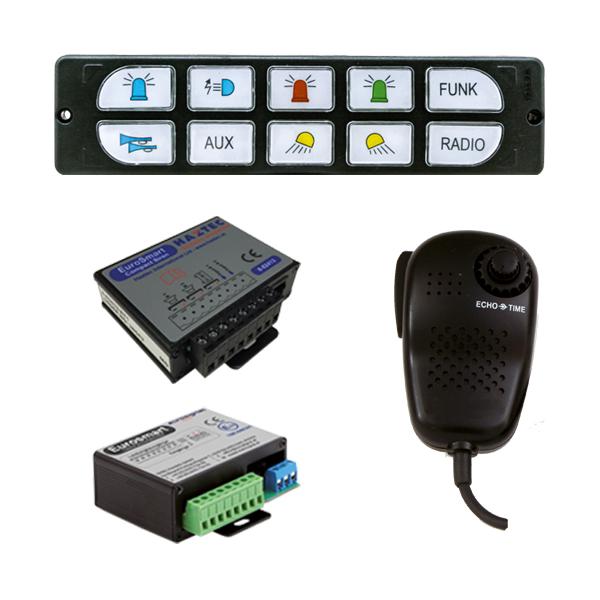 EUROSMART COMPACT Bedien-, Akustik- u. Leistungssystem, 10-30VDC, Version E2, Deutschland