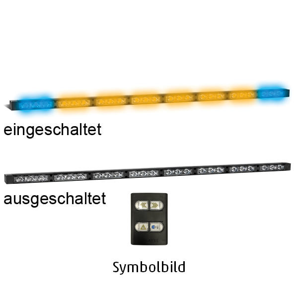 TRAFLED10-WB, L=110cm, 10-30VDC, Warnfarbe blau/gelb, 10x LED-Module, inkl. Bedienteil
