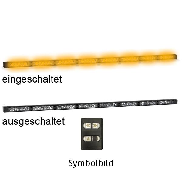 TRAFLED8, L=89cm, 10-30VDC, Warnfarbe gelb, 8x LED-Module, inkl. Bedienteil