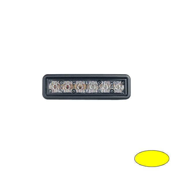 GHOST, 10-30VDC, Warnfarbe gelb, schwarzes Gehäuse, Einbaubefestigung