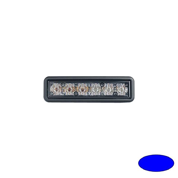 GHOST, 10-30VDC, Warnfarbe blau, schwarzes Gehäuse, Einbaubefestigung