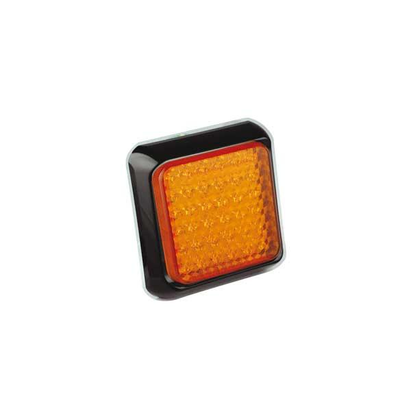 80AME LED-Fahrtrichtungsanzeiger, Montagerahmen schwarz