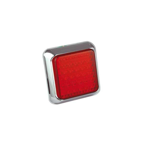 125CRME LED-Kombileuchte, Stop-/Schlusslicht, Montagerahmen chrom