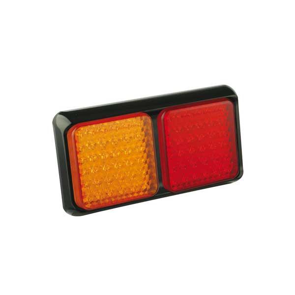 80BARME LED-Leuchtenkombination, Stop/Schlusslicht/Fahrtrichtungsanzeiger, Montagerahmen schwarz