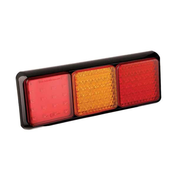 80BFARME LED-Leuchtenkombi, Stop/Schlussl./Fahrtrichtungsanz.r/Nebelschlussl., Montagerahmen schwarz