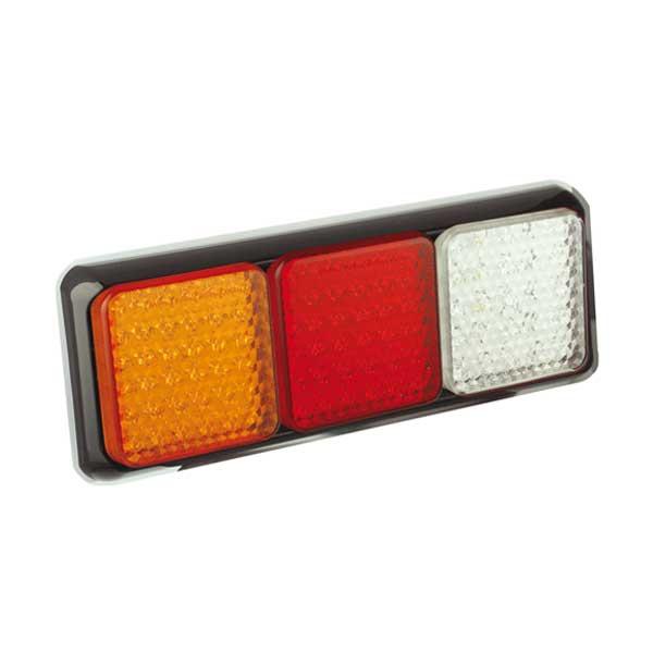 80BRAWME LED-Leuchtenkombi, Stop/Schlussl./Fahrtrichtungsanz./Retourscheinw., Montagerahmen schwarz