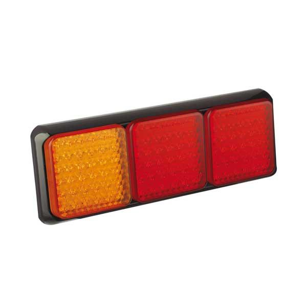125ARRME LED-Leuchtenkombination, Stop/Schlussl./Fahrtrichtungsanz., Montagerahmen schwarz