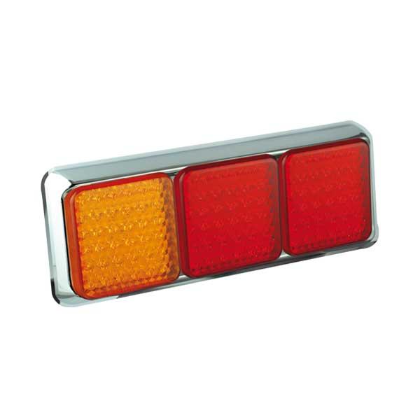 125CARRME LED-Leuchtenkombination, Stop/Schlussl./Fahrtrichtungsanz., Montagerahmen chrom