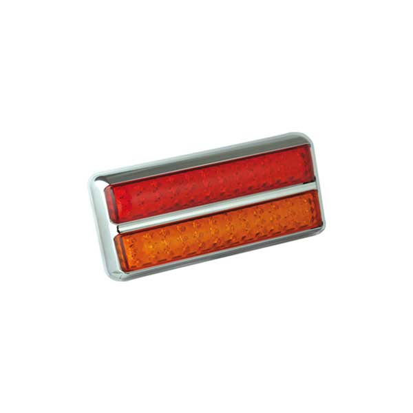 200CARME LED-Leuchtenkombination, Stop/Schlusslicht/Fahrtrichtungsanzeiger, Montagerahmen chrom