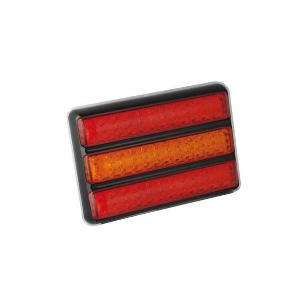 200BARRME LED-Leuchtenkombination, Stop/Schlusslicht/Fahrtrichtungsanzeiger, Montagerahmen schwarz