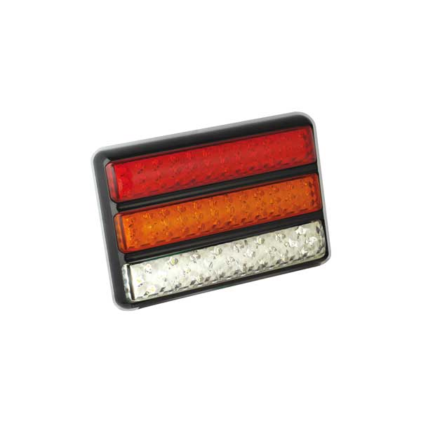 200BARWME LED-Leuchtenkombination, Stop/Schlussl./Fahrtrichtungsanz./Retourscheinw., Montager. schwarz