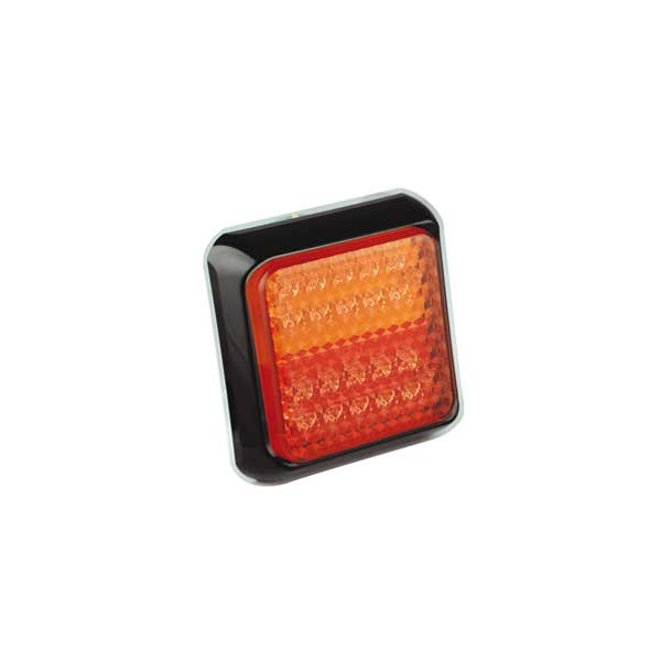 80BSTIME LED-Mehrkammerleuchte, Stop-/Schlusslicht/Fahrtrichtungsanzeiger, Montagerahmen schwarz
