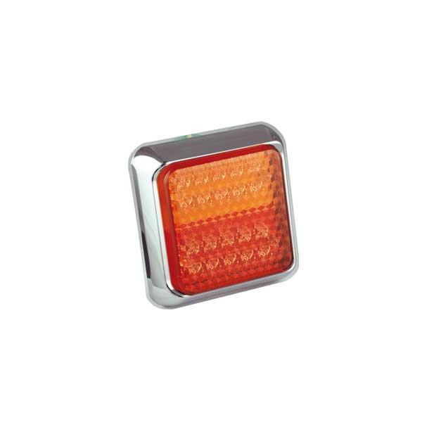 80CSTIME LED-Mehrkammerleuchte, Stop-/Schlusslicht/Fahrtrichtungsanzeiger, Montagerahmen chrom