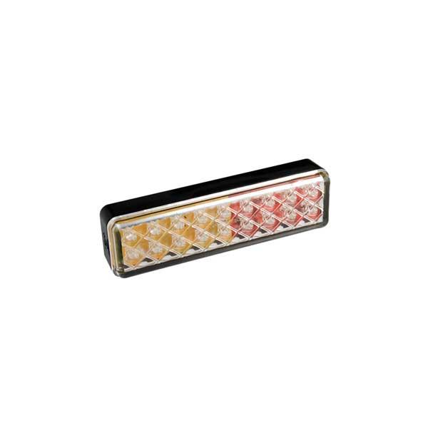 135ARME LED-Mehrkammerleuchte, Stop-/Schlussl./Fahrtrichtungsanz., Aufbau, Montagerahmen schwarz