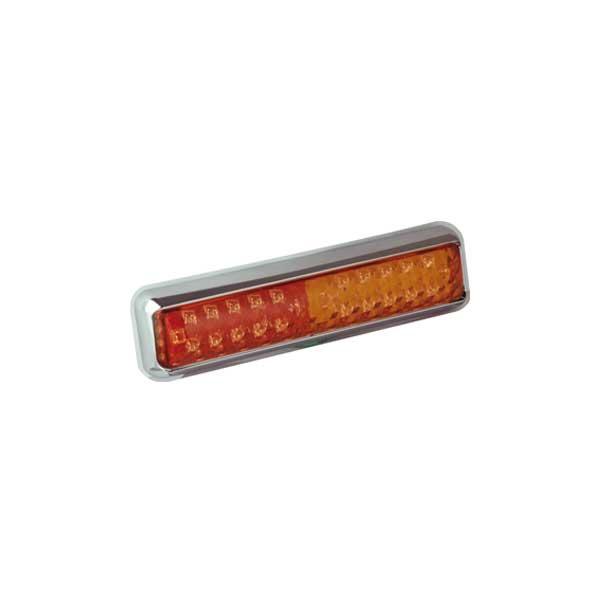 200CSTIME LED-Mehrkammerleuchte, Stop-/Schlusslicht/Fahrtrichtungsanzeiger, Montagerahmen chrom