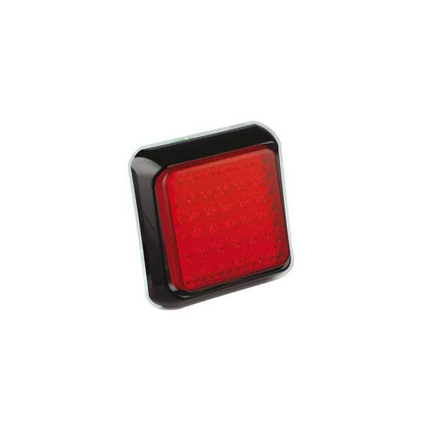 80FME LED-Nebelschlussleuchte, Montagerahmen schwarz
