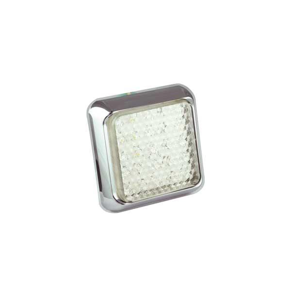 100CWME LED-Retourscheinwerfer, 10-30VDC, Montagerahmen chrom