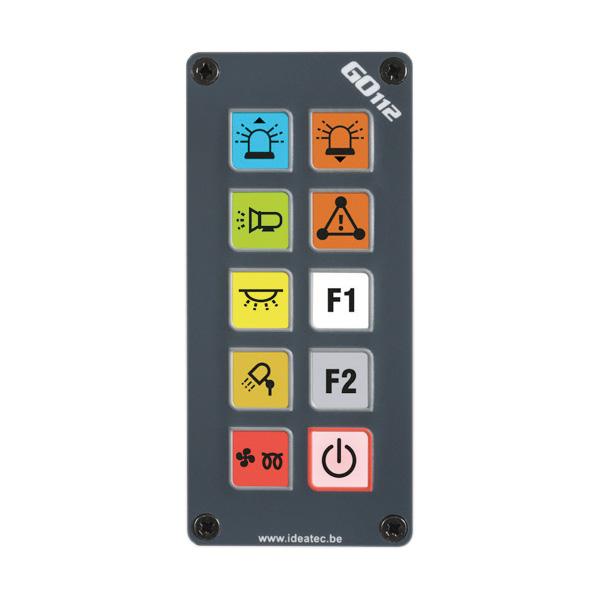 """Bedienkonsole FSP9 """"Flat"""" für GO112, 9 konfigurierbare Tasten, versenkte Einbaumontage"""