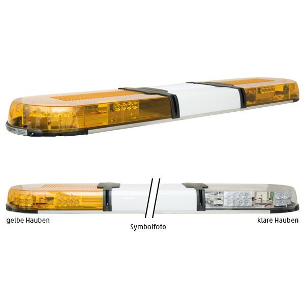 XPERT 4PRO-4PF-4PF, L=109cm, 10-30VDC, Warnfarbe gelb, Haubenfarbe klar, Schild 30cm (12 o.24VDC)