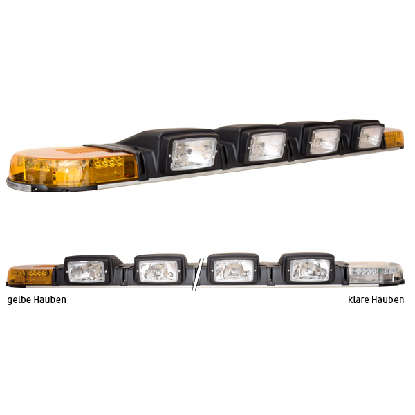 XPERT 4PRO-2PF-4H4, L=191cm, 24VDC, Warnfarbe gelb, Haubenfarbe klar