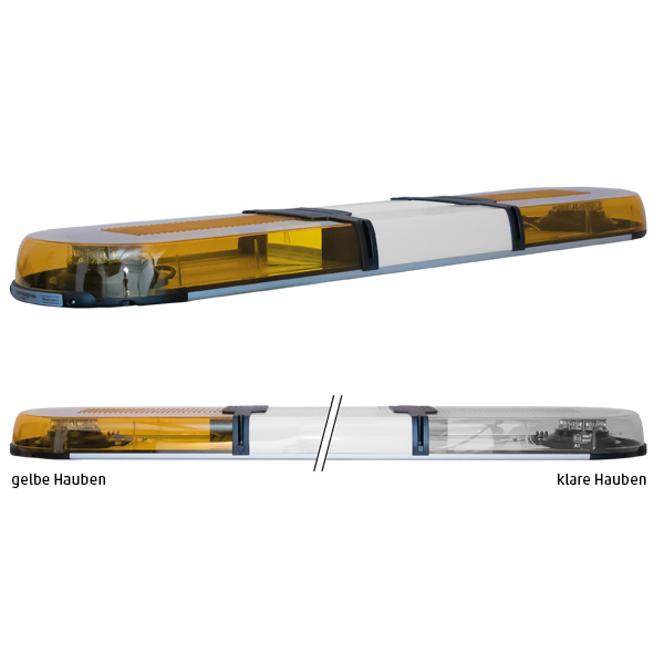 XPERT 2ELP360, L=123cm, 10-30VDC, Warn- u. Haubenfarbe gelb, Schild 30cm (12 o.24VDC)
