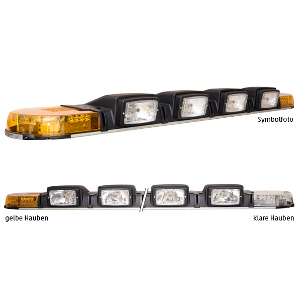 XPERT 2ELP360-4H4, L=171cm, 24VDC, Warnfarbe gelb, Haubenfarbe klar, 4x H4-Scheinwerfer