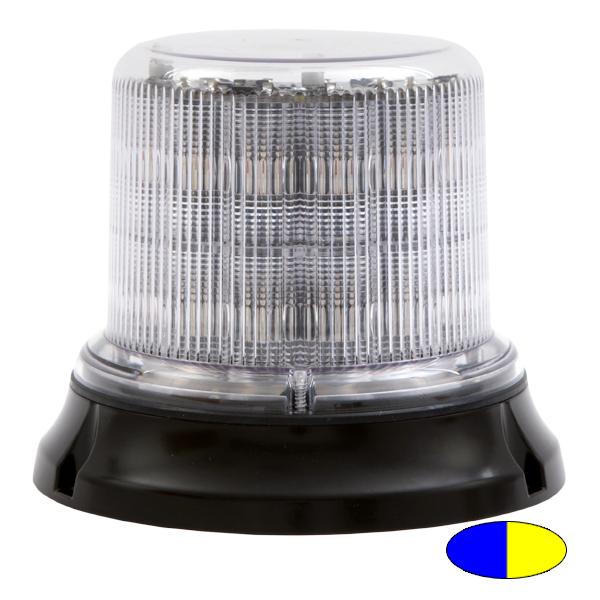 IMPACT DR, 10-30VDC, Warnfarbe blau/gelb, klare Haube, 12+12 LEDs, Magnethalterung