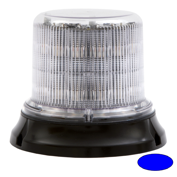 IMPACT DR, 10-30VDC, Warnfarbe blau, klare Haube, 12 LEDs, 3-Lochbefestigung