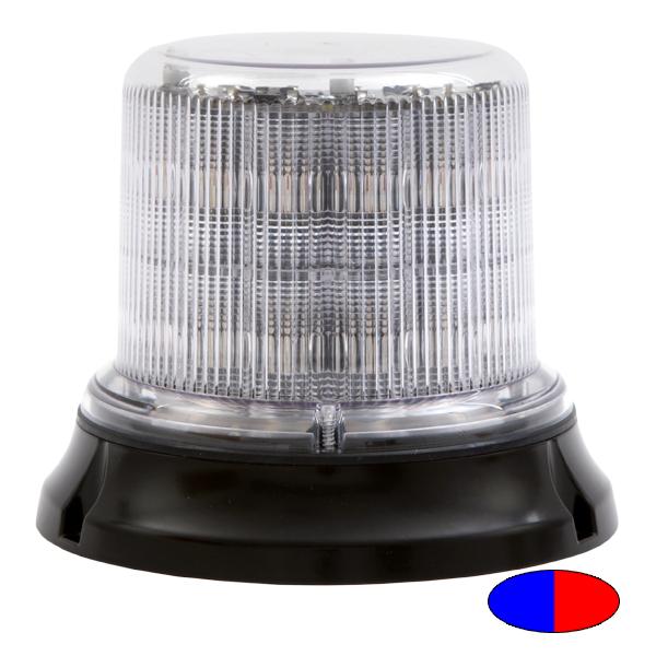 IMPACT DR, 10-30VDC, Warn-, Sonderfarbe blau/rot, klare Haube, 12+12 LEDs, 3-Lochbefestigung